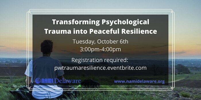 Transforming Psychological Trauma into Peaceful Resilience